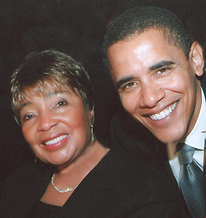 Congresswoman Johnson and President Obama